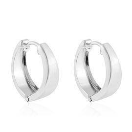 Hoop Earrings with Clasp in 9K White Gold 1.38 Grams