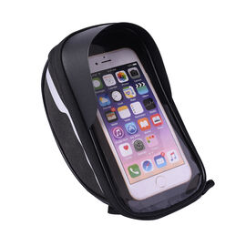 Durable & Water Resistant Bicycle Mobile Phone Bag with Touch Screen Window (Size 18x10x7cm) - Black