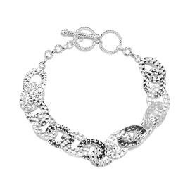 Link Bracelet in Silver 12.20 Grams 8.25 Inch with Extender