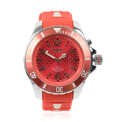 KYBOE Power Collection- Japanese Movement 100M Water Resistant Summer Romance LED Watch in Stainless