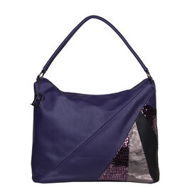 Bulaggi Collection- Flora Hobo Shoulder Bag (Size 36x30x16 Cm) - Dark Purple