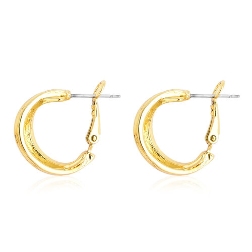 Designer Inspired- 2 Piece Set Earrings (with French Clip) and Necklace (Size 20 with 2 inch Extender) in Yellow Gold Tone