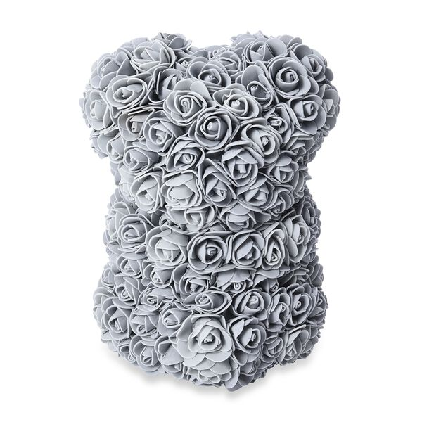 MP Lovely Rose Flower Bear with Bow Tie - Grey