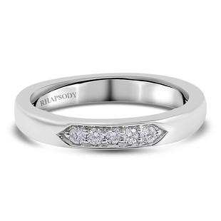 RHAPSODY 950 Platinum IGI Certified Diamond (VS/ E-F) Ring 0.100 Ct.