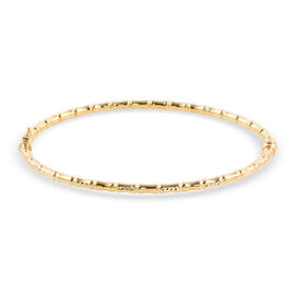 One Time Close Out Deal - 9K Yellow Gold Bamboo Bangle (Size 7.5) with Clasp, Gold Wt. 5.12  Gms
