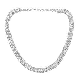 Royal Bali Filigree Circle Link Chain Necklace in Silver 28.23 Grams 18 with 2 inch Extender