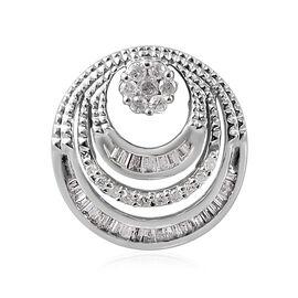 9K White Gold SGL CERTIFIED Diamond (Rnd and Bgt) (I3 / G-H) Pendant 0.250 Ct.