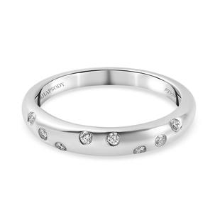 RHAPSODY 950 Platinum IGL Certified Diamond ( E-F/VS) Band Ring 0.08 Ct.