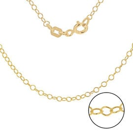 Yellow Gold Plated Sterling Silver Rolo Chain (Size 24)