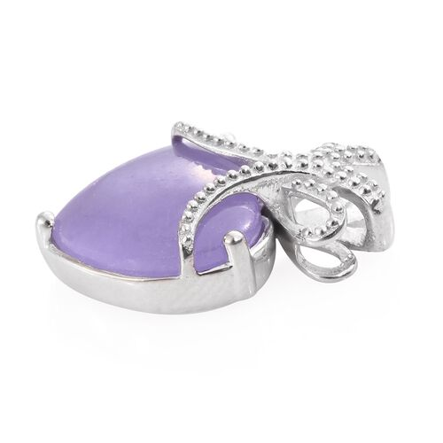 Purple Jade (Hrt) Love Knot Inspired Pendant in Platinum Overlay Sterling Silver 9.250 Ct.