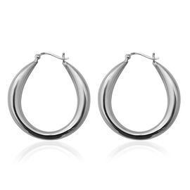 Sterling Silver Hoop Earrings (with Clasp Lock ), Silver wt 14.64 Gms