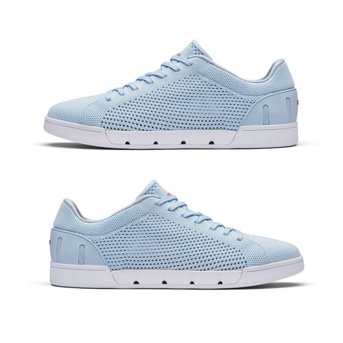 Swims Breeze Tennis Knit Womens Trainer (Size 4) - Baby Blue