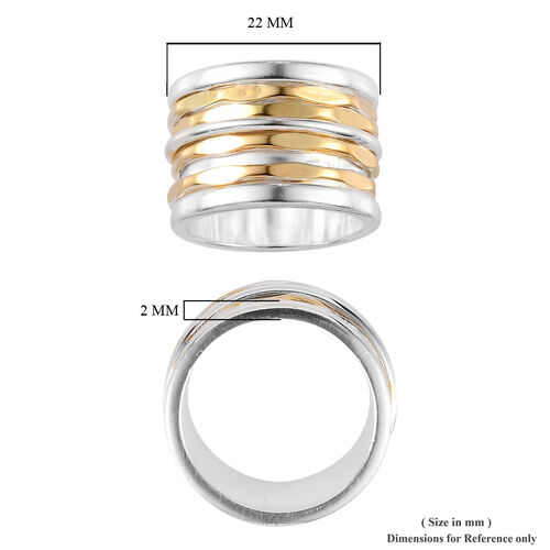 Sterling Silver Diamond Cut Band Ring, Silver wt 10.42 Gms