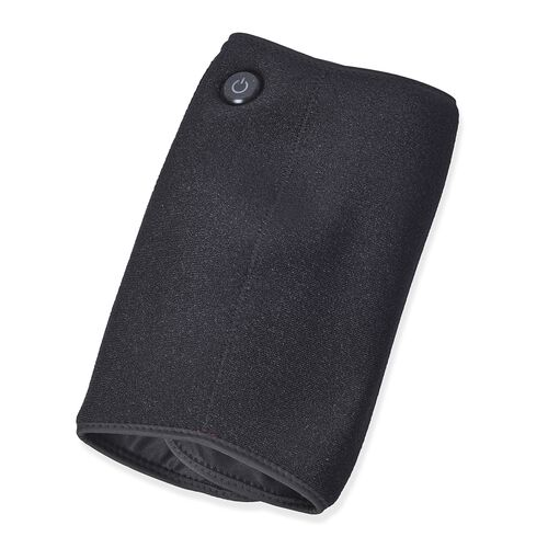 2 in 1 USB Powered Heated Knee Belt with Ice Gel Bag and 3 Heat Setting with Low Voltage (Size 52x28 Cm) (Power Bank, Adapter or USB not Included) - Black