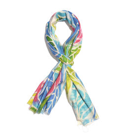 100% Modal Multi Colour Leaf Pattern Digital Printed Scarf Size 200x70 Cm