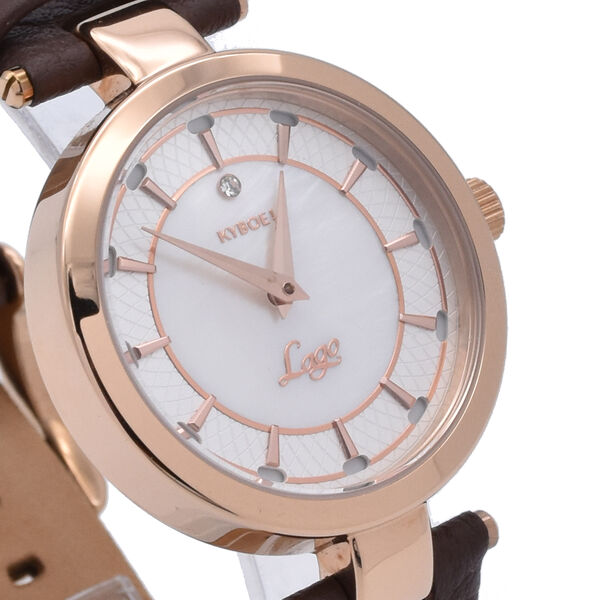KEYBOE Water Resistant Watch with Brown Colour Strap