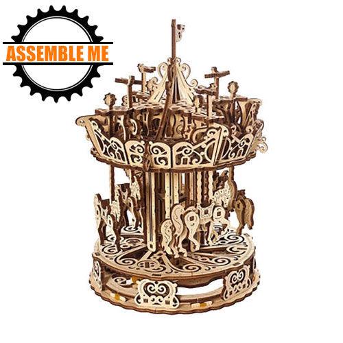 UGears Mechanical Carousel Wooden Model Kit
