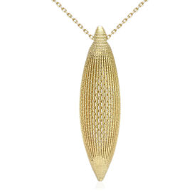 9K Yellow Gold Sand Bullet Drop Necklace (Size 28), Gold wt 6.40 Gms.