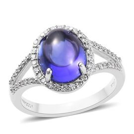 RHAPSODY 950 Platinum AAAA Tanzanite and Diamond (VS/E-F) Ring 4.75 Ct, Platinum wt 6.10 Gms