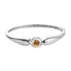 J Francis Sunflower Colour Crystal from Swarovski Bangle in Platinum Plated 7.25 Inch