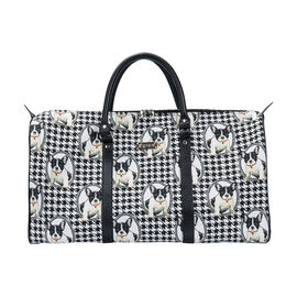 SIGNARE - Tapastry Collection -French Bulldog Big Holdall with Strap (31 x 30 x 13.5 cms)