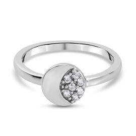 Natural Cambodian Zircon Ring in Platinum Overlay Sterling Silver