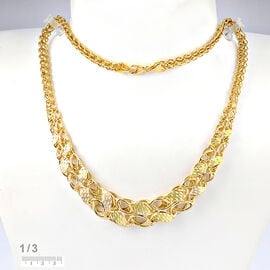 Italian Made- 9K Yellow Gold Graduated Necklace (Size 18 with 2 inch Extender), Gold wt. 13.91 Gms