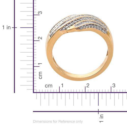 Diamond (Bgt) Ring in 14K Gold Overlay Sterling Silver 0.750 Ct.