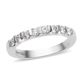 RHAPSODY 950 Platinum IGI Certified Diamond (Rnd) (VS/E-F) Band Ring 0.50 Ct.