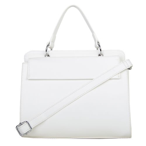 Bulaggi Collection Gail Handbag with Adjsutable and Deatchable Shoulder Strap in White