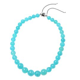 Super Auction - Rare Premium Quality Russian Amazonite Beads Necklace (Size 16-22 Adjustable) with M