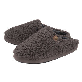 Dunlop Mens Ross Cosy Mule Slippers Charcoal