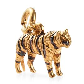 14K Gold Overlay Sterling Silver Tiger Charm