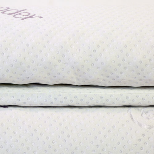 Serenity Memory Foam Topper Including Lavender Infused Cover- Size Single