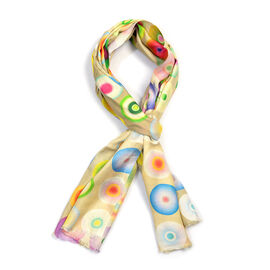 100% Modal Multi Colour Digital Print Scarf (Size 200x70)