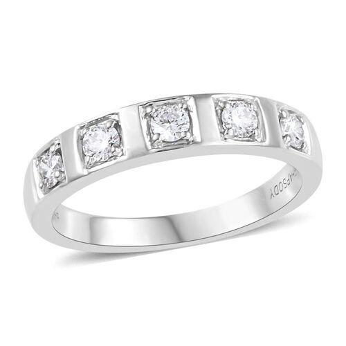 RHAPSODY 950 Platinum Natural IGI Certified Diamond (VS/E-F) Band Ring 0.33 Ct, Platinum wt. 5.91 Gms