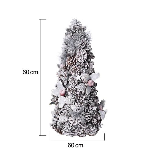 Pinecone Christmas Tree with Red Fruits (Size 60x24cm)