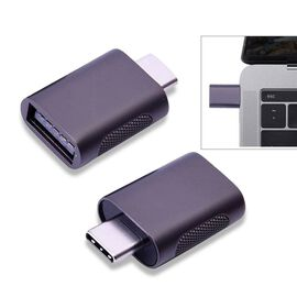 Set of 2 Type-C USB Adapter in Grey