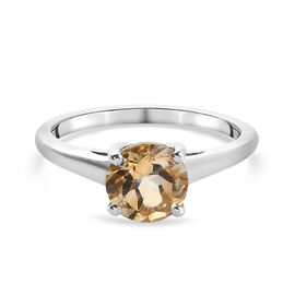 Citrine Ring in Platinum Overlay Sterling Silver 0.90 ct  0.901  Ct.