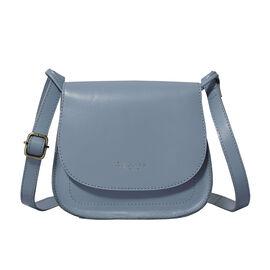 OTO - ASSOTS LONDON Nicola Genuine Smooth Leather Fully Lined Saddle Bag - Black
