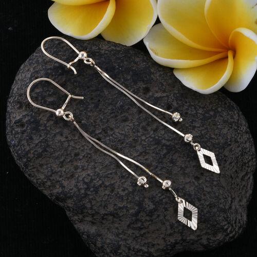 Royal Bali Collection-  9K Yellow Gold Diamond Cut Hook Earrings, Gold wt 1.81 Gms.
