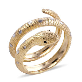 Designer Inspired- Surabaya Gold Collection 9K Yellow Gold Serpentine Ring,