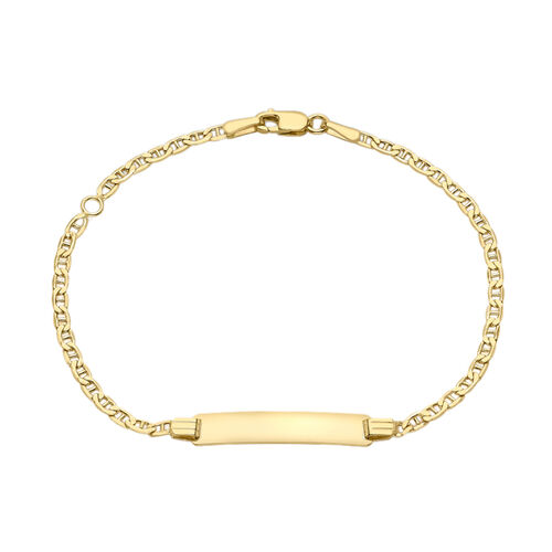 9K Yellow Gold Flat Rambo Bracelet (Size 6 with 1 inch Extender)