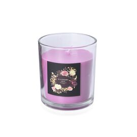 Aromatic Candle and Glass Container (Size 7.5x6.5 Cm) with Gift Box (Blackberry and Bay Fragrance)