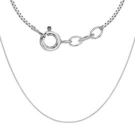Sterling Silver Box Chain (Size 16 with 2 inch Extender)