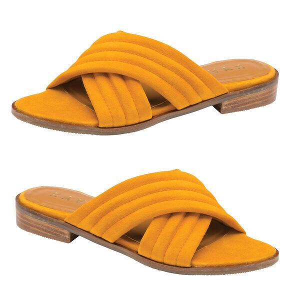 Ravel Paxton Suede Mule Sandals (Size 7) - Mustard