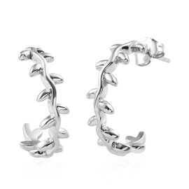 Platinum Overlay Sterling Silver Earring