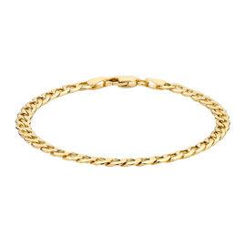 Hatton Garden Close Out Deal-9K Yellow Gold Curb Bracelet (Size 7.5)
