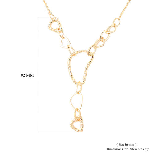 RACHEL GALLEY - Yellow Gold Overlay Sterling Silver Latticework Link Necklace (Size 20), SIlver wt. 11.40 Gms