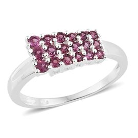 Rhodolite Garnet (Rnd) Ring in Sterling Silver 1.000 Ct.
